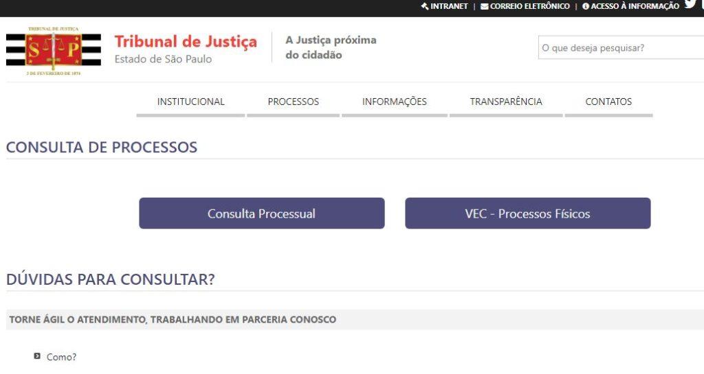 Portal de consulta de Precatórios no TJSP