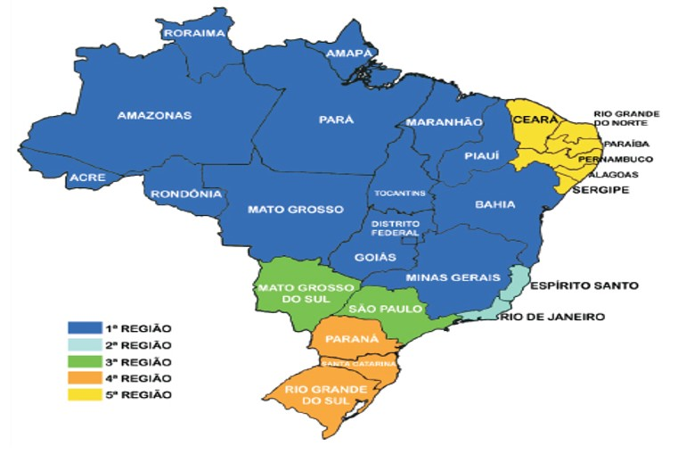 mapa competencia trf