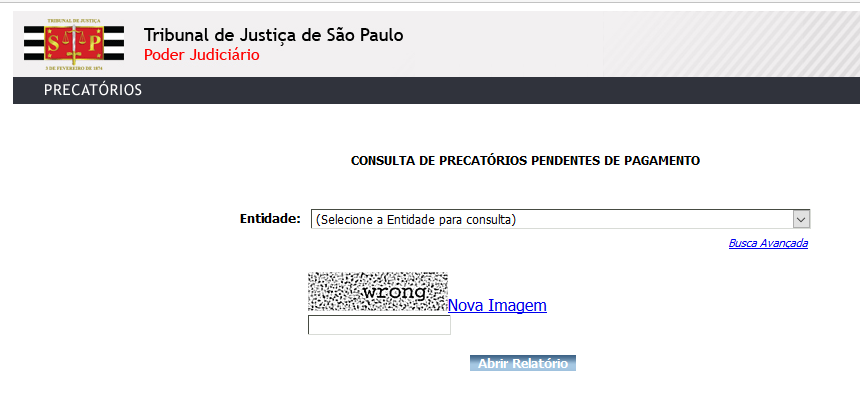 consulta precatorios e rpvs em São Paulo