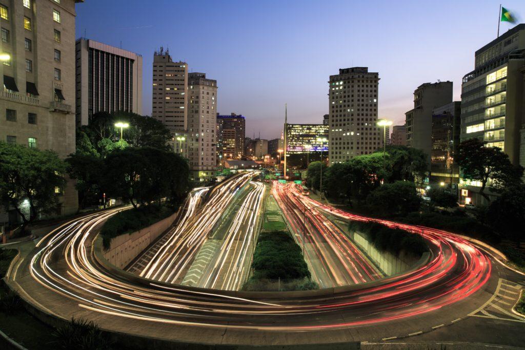 foto norturna de São Paulo