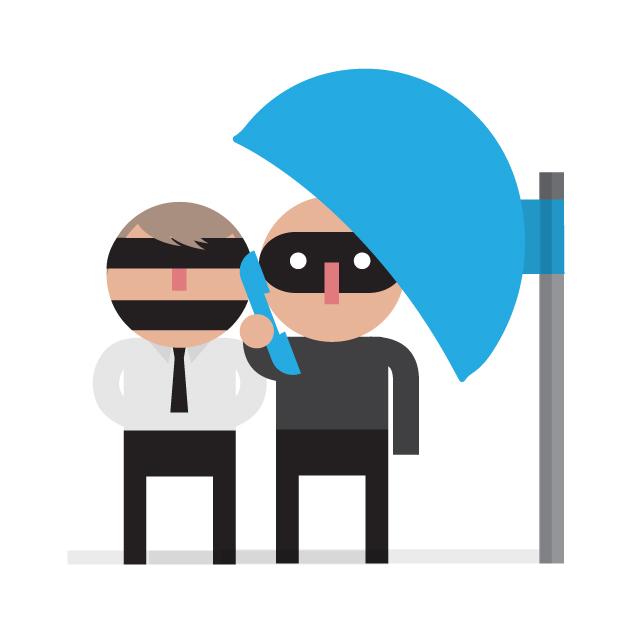 sequestradores no telefone