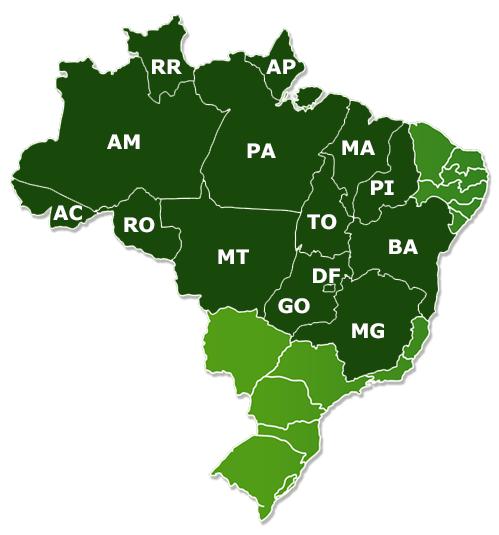 Mapa TRF1 - Precatórios TRF1