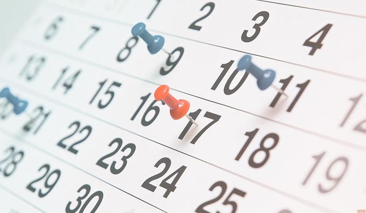 calendário de pagamento de preatório federais
