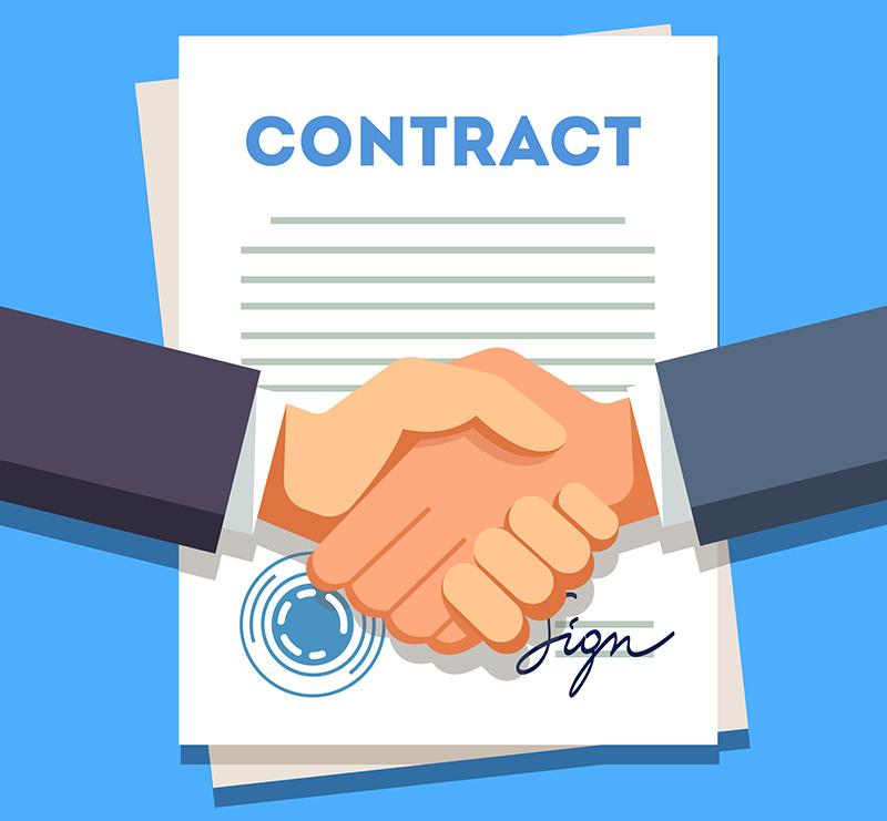 duas mãos fechando contrato para venda e compra de precatório
