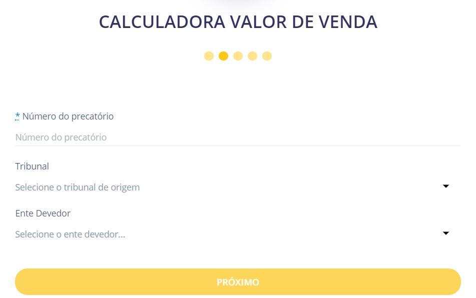 Segundo Passo da calculadora de oferta de compra
